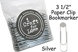 Bookmarker Paperclips with Pad - Pick Color (Qty 100, Silver)