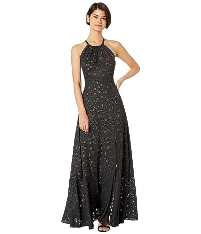BCBGMAXAZRIA Double Strap Maxi Dress (Black) Women