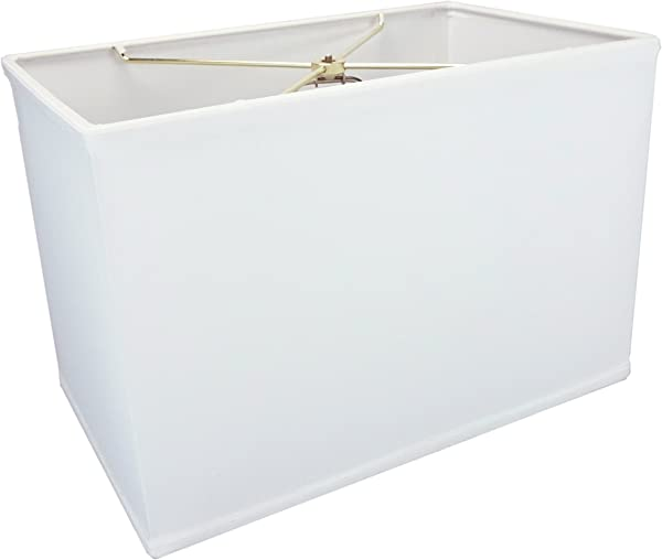 10x16 X 10x16 X11 Rectangular Drum Lampshade White With Brass Spider Fitter By Home Concept Perfect For Table And Floor Lamps Large White