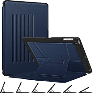 Fintie Magnetic Stand Case for iPad 6th / 5th Generation - [Multiple Secure Angles] Shockproof Rugged Soft TPU Back Cover for iPad 9.7 2018 2017 / iPad Air 2 / iPad Air, Auto Wake/Sleep, Navy