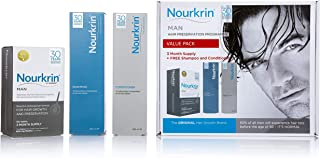 Nourkrin Man Value Pack 180 Tablets, Shampoo and Conditioner