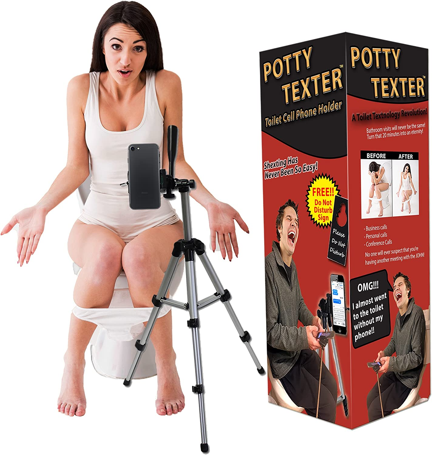 Potty Texter Toilet Cell Phone Holder  Hands Free Texting by Gears Out by Gears Out