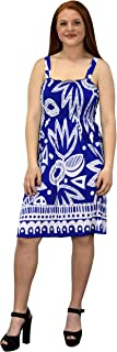 Juniors Knee Length Multicolor Exotic Smocked Printed Summer Dress