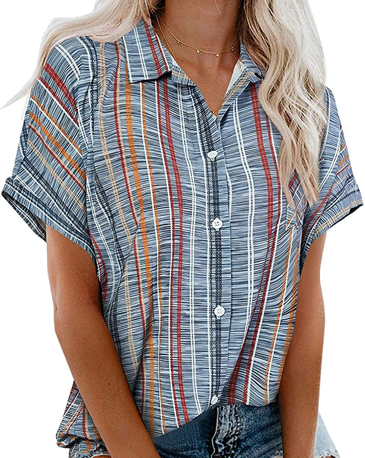 Tshirts for Womens Short Sleeve Collared V B Shirts Neck Discount mail order New sales