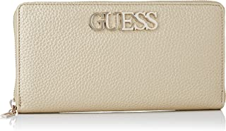 Guess Uptown Chic SLG Cheque Orgnzr, Small Leather Goods para Mujer, dorado, Talla única