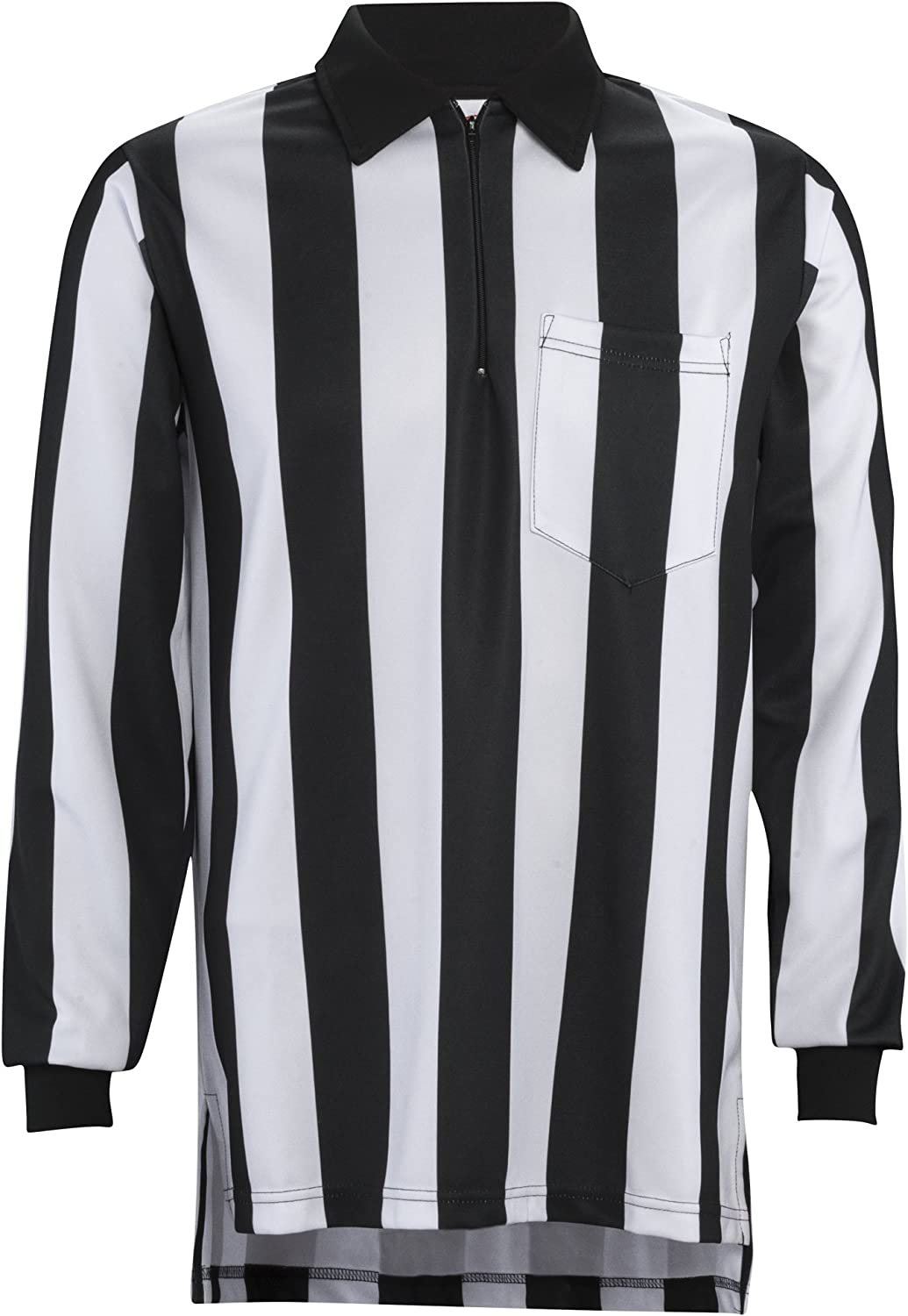Adams Football Referee Long Max 67% OFF Sleeve Shirt 2-Inch with Black and High material W