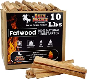 Billy Buckskin Co. Fatwood Fire Starter Sticks | Easy & Safe Fire Starter | Start a Fire with just 2 Sticks | Works in Any Weather Conditions