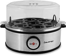 SUNTEC Cuiseur à œufs inox EGG-8564 design [Pour 1 à 7 œuf(s), degré de cuisson réglable, signal sonore, avec bol pour œuf...