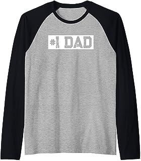 Mens Vintage #1 Dad - Cadeau pour Papa Manche Raglan