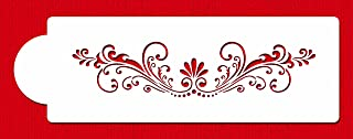 Designer Stencils C375 Fleur De Lis Cake Stencil, Beige/Semi-Transparent