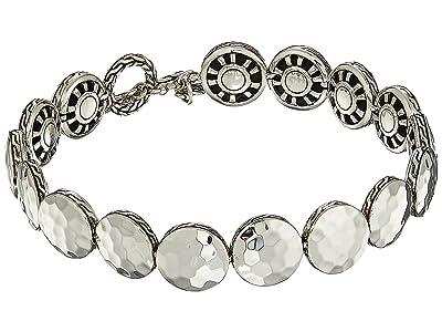 John Hardy Dot 10.5mm Hammered Link Bracelet (Hammered Silver) Bracelet