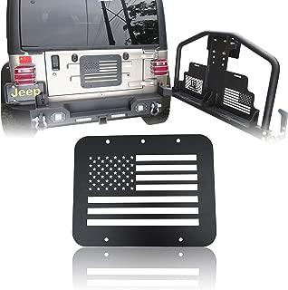 Vijay Hunter 1997-2006 Jeep Wrangler TJ US Flag Tailgate Vent-Plate Cover/Spare Tire Carrier Delete