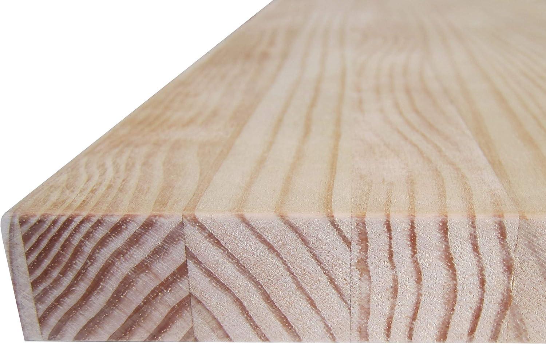Natur Gr/ö/ße zur Auswahl: M/öbel ohne Lack Holzbretter Kiefer Massiv Tischplatten 59 x 40 x 1,8 cm Arbeitsplatten Heimwerker