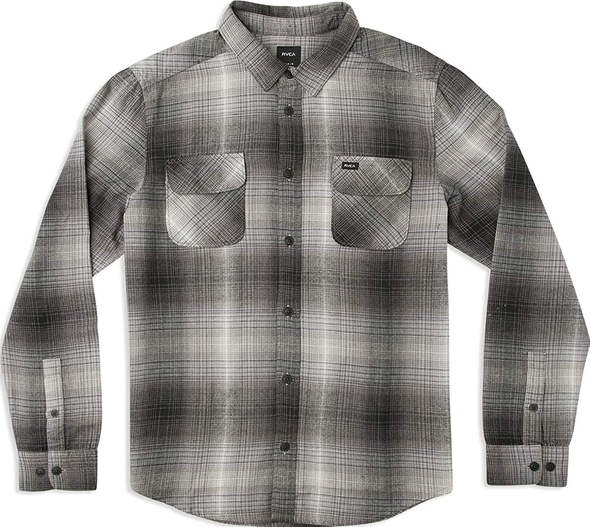 RVCA Men's Muir Plaid Long Sleeve Flannel: Clothing