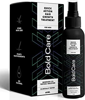 Bold Care Hair Serum for Men - 5% Topical Solution for Controlling Hair Fall, Healthy and Strong Hair - Clinically Tested...