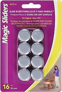 "MAGIC SLIDERS 02516 Self-Adhesive 1"" Round Sliding Discs 16 Pack"