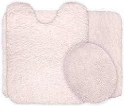 Lavish Home 3-Piece Super Plush Non-Slip Bath Mat Rug Set Ivory