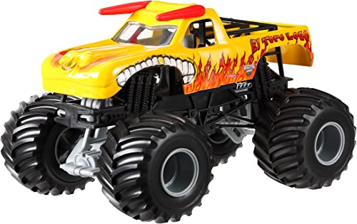 Hot Wtalons Monster Jam El Tor Loco jaune Die-Cast Vehicle, 1 24 Scale by Hot Wtalons