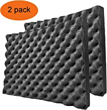 BXI Soundproofing Closed Cell Foam - Self-adhesive - Noise and Thermal Insulation - 16'' X 12'' X 1.8'' (2 Pack)