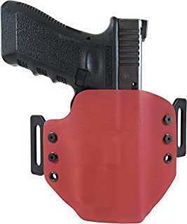 Tru-Fit Tactical OWB Kydex Gun Holster (RED) for OLIGHT PL-Mini 2 Available for 45+ Gun Models