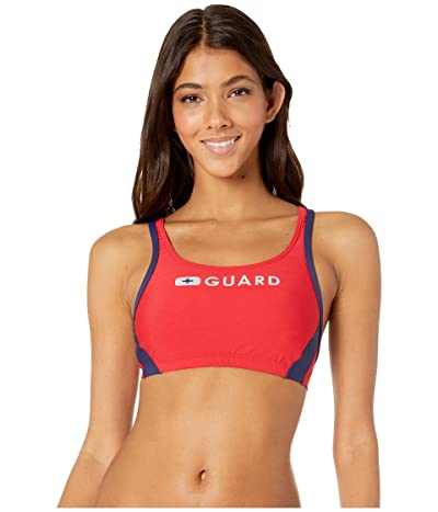 Speedo Guard Sport Bra Top (US Red) Women