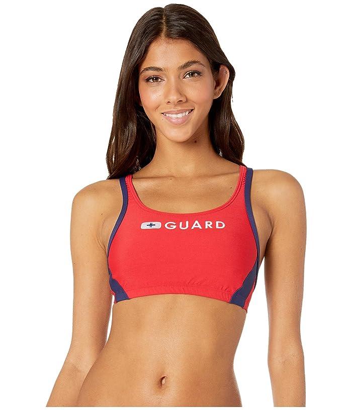 Speedo Guard Sport Bra Top (US Red) Women