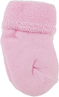 Calcetines de bebé para niñas y niños, cálidos y gruesos, color pastel, para recién nacidos hasta 6 meses rosa rosa Talla:S