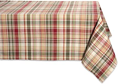 "Cabin Plaid Square Tablecloth, 100% Cotton with 1/2"" Hem (52x52"" - Seats 4)"