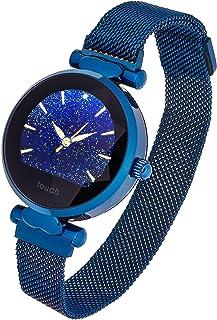 Garett Vrouwen Lisa Blauw, Stalen Smartwatch