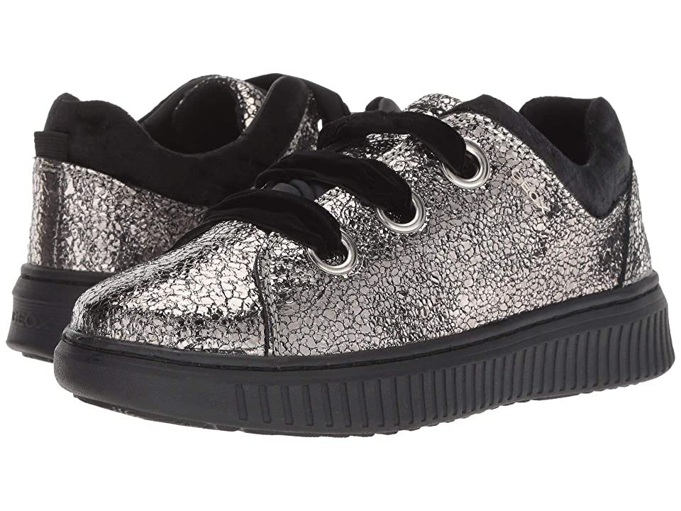 Geox Kids Disco Mix Girl 4 (Little Kid/Big Kid) (Dark Silver) Girl
