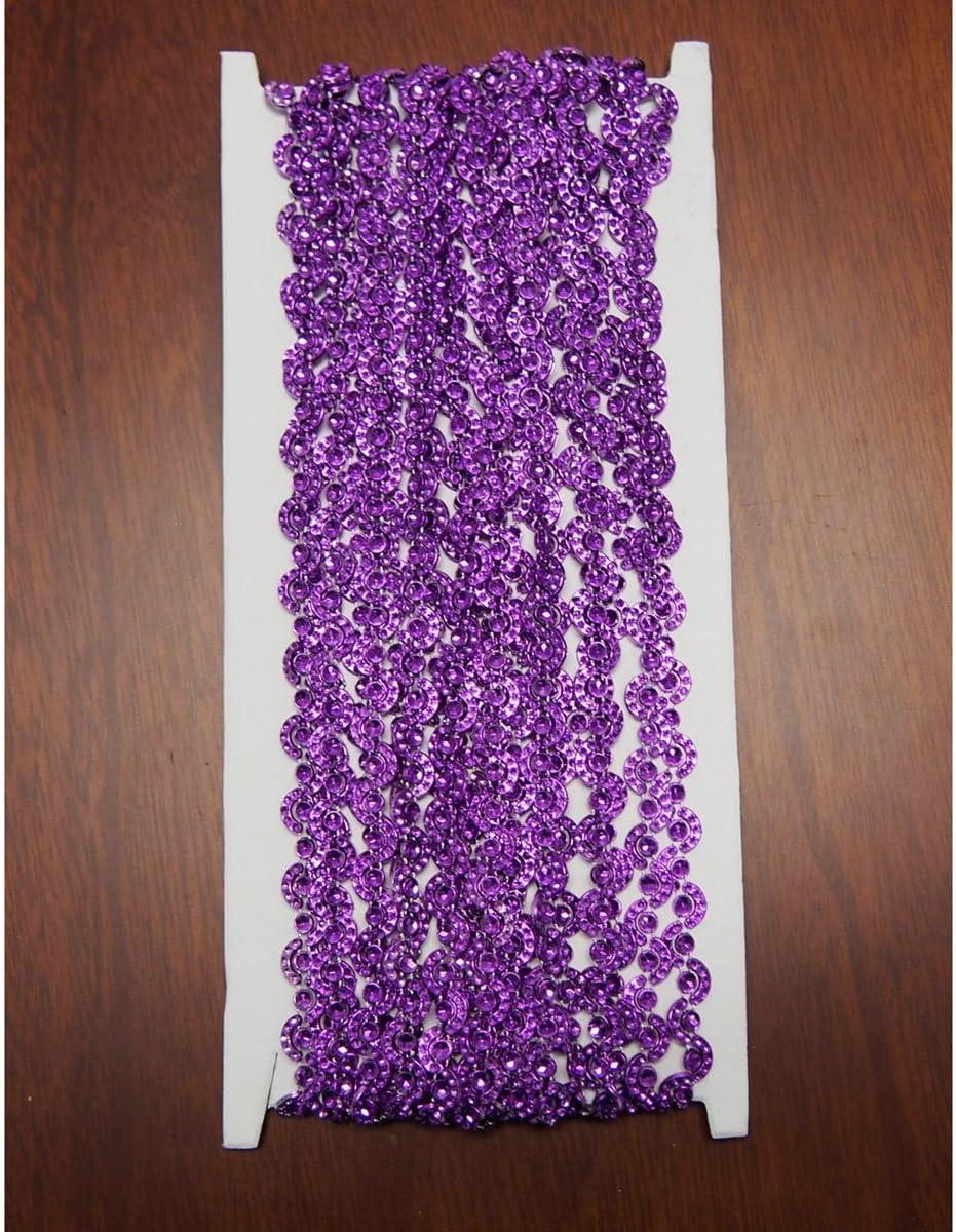 Purple Wave Rhinestone Manufacturer direct delivery Trim Wholesale 7mm 10-Yard Strand