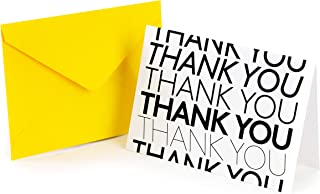 SLICE OF GOODNESS 36PK Modern Thank You Cards - 6 Designs with 36 Tuscany Yellow Envelopes Included Great for Writing Than...