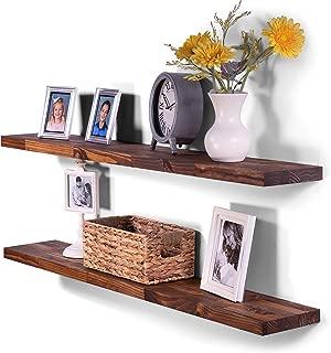 Best reclaimed wood floating bookshelves Reviews