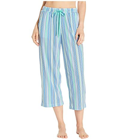 Karen Neuburger Sunday In Sorrento Capris Pants (Stripe/Seafoam) Women