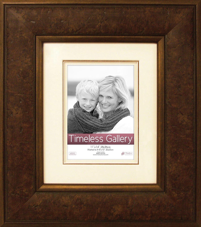 Timeless Frames 11x14 Inch Fits 8x10 Inch Photo Morris Wall Frame, Dark Walnut