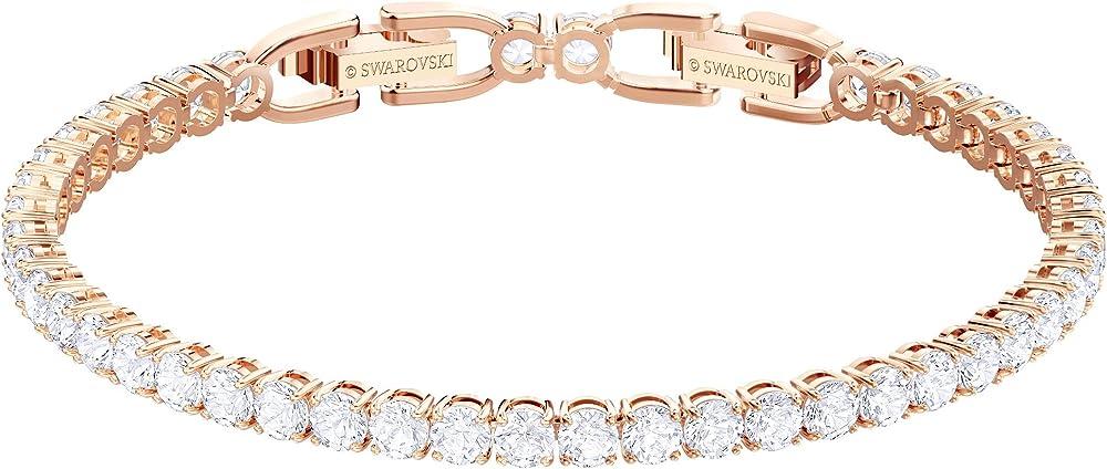 Swarovski braccialetto tennis,  placcato oro rosa 5464948