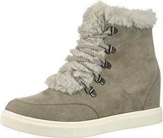 Madden Girl Women's Pulley Ankle Boot, Grey Fabric, 8.5 M US