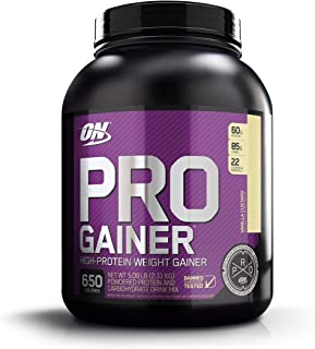 Optimum Nutrition Pro Gainer Weight Gainer Protein Powder, Vanilla Custard, 5.09 Pounds..