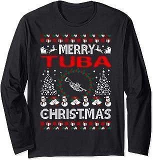 Merry Tuba Christmas Ugly Sweater Music Instrument Tshirt