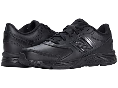 New Balance Kids 680v6 Uniform (Little Kid/Big Kid) (Black/Black) Boys Shoes
