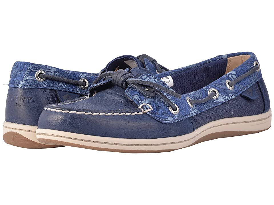 Sperry Barrelfish Animal Print (Navy) Women