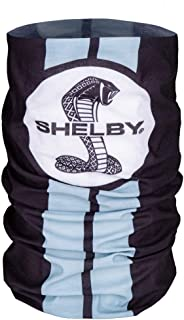 Shelby Snake Face Sleeve Bandana with Black with Gray Racing Stripes | 100% Polyester Microfiber | One Size Fits All | The...