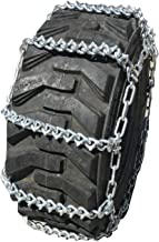 TireChain.com 17.5L 24 17.5L-24 Two-Link V-BAR Tractor Tire Chains Set of 2