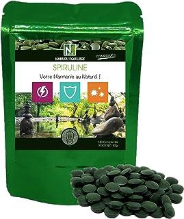 Spirulina | 180 comprimidos de 500mg | NAKURU Equilibrio | Polvo Orgánico Secado y Comprimido en