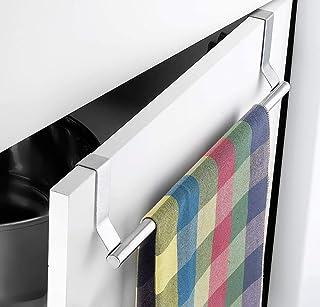 """Lukzer Stainless Steel 14"""" over the Door Kitchen Towel Rack Organiser Hanger"""