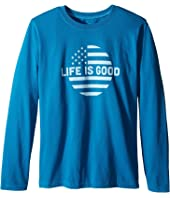 Life is Good Kids - Life is Good® Dot Flag Long Sleeve Tee (Little Kids/Big Kids)