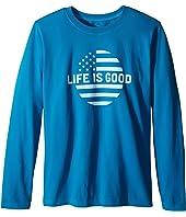 Life is Good Kids - Life is Good® Dot Flag Long Sleeve Tee (Little Kids/Big Kids)