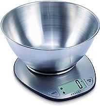 EXZACT Balance de Cuisine Électronique Multifonctionnelle Précise avec Grand Écran Numérique et Bol à Mélanger en Inox - 5...