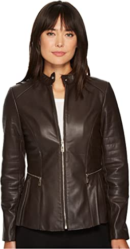 Ivanka Trump - Leather Peplum w/ Side Zippers