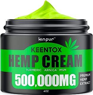 Hemp Cream - Fast Relief - Muscle, Joint, Foot & Back with Hemp, Arnica, Turmeric | Natural Hemp Oil Extract Gel - Maximum...